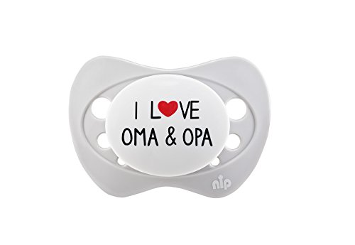 nip Schnuller Limited Edition I love Oma & Opa, kiefergerecht, 0-6 Monate Nürnberg Gummi Babyartikel GmbH & Co. KG - NIP 38367-51