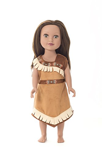 Little Adventures Matching Princess Dress Up Costume for Dolls (Multiple Princess Styles Available) (Native American (Girls Scottish Princess Costumes)