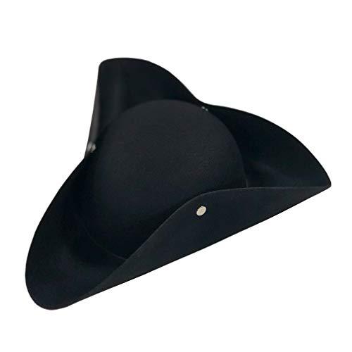 Pirate Adult Hat Tricorn - YIDAMY Tricorn Felt Pirate Hat Adult Black