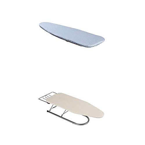 Household Essentials 1 Piece Tabletop Ironing Board Cover & Pad 100% Cotton Cover & 4 Mm Fiber Pad 131210 Small Steel Table Top Ironing Board with Iron Rest   Natural - Whitney Board Design Iron Ironing