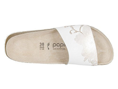 Sole from Cora rosegold Ornatments Leather Women Papillio with a Smooth Made EVA Real The for White Shoe from Made Leather Ornaments 61qgz