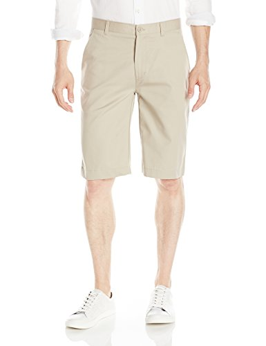IZOD Uniform Young Men's Flat Front Short, Khaki, 29
