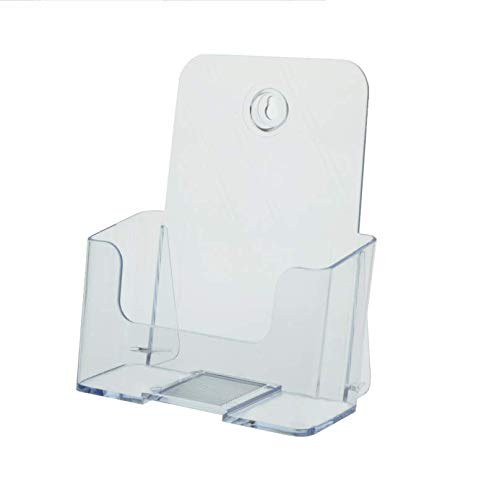 """T'z Tagz Brand 6"""" Wide Half Page Acrylic Literature Brochure Holder 2 Pack (2 Pack, Keyhole Style)"""