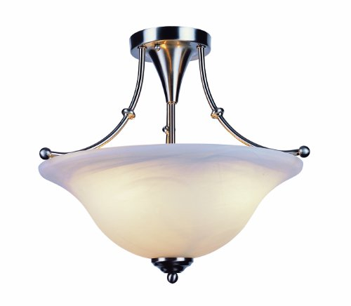 24 Semi Flush - Trans Globe Lighting Payson Gu-24 Semi Flush-Mount Light, Brushed Nickel