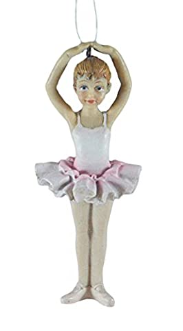 Ballerina Dancer Blonde Resin Hanging Christmas Ornament - Santa Christmas Ornament Shoes