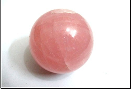 Jet Rose Quartz 45-50 mm Ball Sphere Gemstone A+ Hand Carved Crystal Altar Healing Devotional Focus Spiritual Chakra Cleansing Metaphysical ()