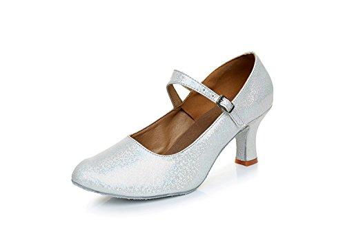 Soft 5cm Heel Modern Shangyi Winter Dance Friendship Shoes Adult Silver Height Square Autumn Latin And With Bottom High Women's wPTwHR