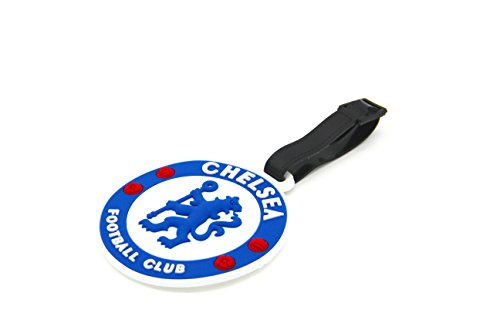 CellDesigns Set of 2 Soccer Team Football Club Luggage Tag Suitcase ID Tag with Adjustable Strap (Chelsea F.C.) ()