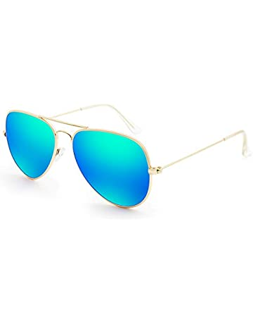 6be482c02c2 Livhò Sunglasses for Men Women Aviator Polarized Metal Mirror UV 400 Lens  Protection