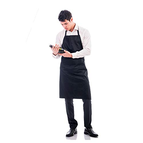 Adjustable apron, black apron, machine washable, can be used in kitchen, craft 1