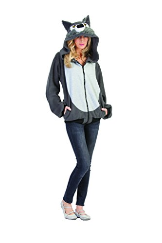 Gray Wolf Hoodie Adult Costume