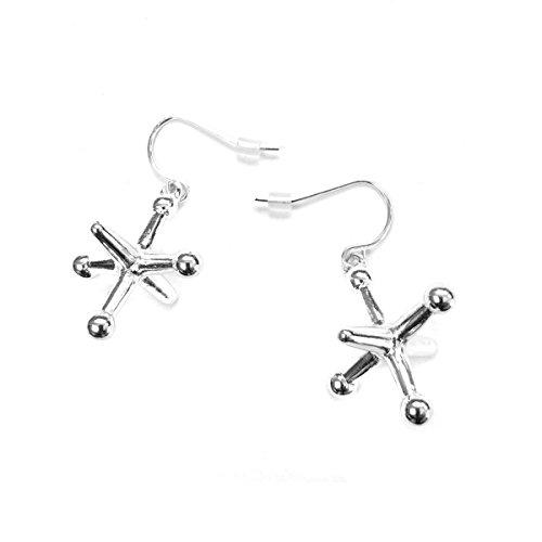 Silver Jacks Drop Earrings