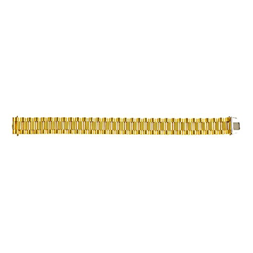 - 18k Yellow Gold 16mm Gents Fancy Link Chain Bracelet for Men - 8