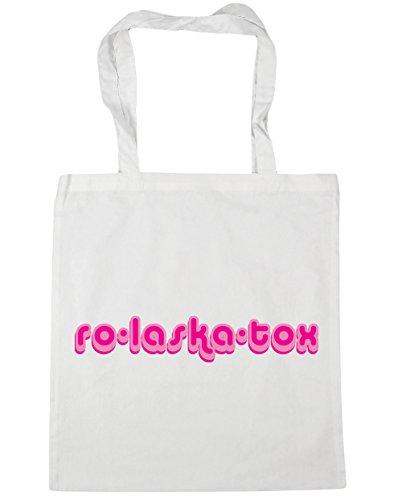 HippoWarehouse ro-laska-tox Tote Compras Bolsa de playa 42cm x38cm, 10litros blanco