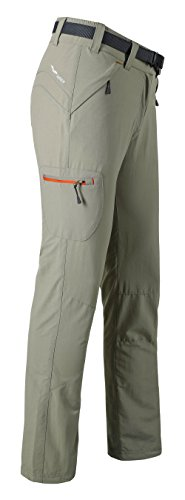 MIER Women's Outdoor Pants Cargo Pants with Zipper Pockets for Hiking Camping Travel, Lightweight and Water Resistant
