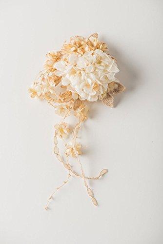 Bridal & Wedding Angel Hair Clip | Cotton Flowers | Handmade in Japan by Brandimport