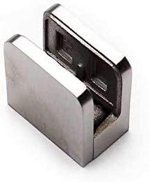 Soportes de acero inoxidable, abrazaderas, clips para mamparas de cristal, estante de cristal, escaleras de cristal, pasamanos de cristal | Abrazaderas de vidrio 8 a 10 mm, 12 mm: Amazon.es: Hogar