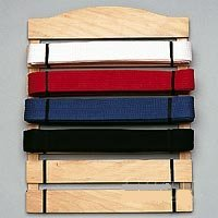 Six Level Martial Arts Karate Belt Display