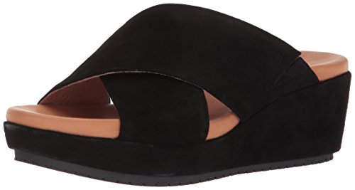 (Gentle Souls by Kenneth Cole Women's Mikenzie Platform X-Band Slide Sandal Sandal, black, 8.5 M US )