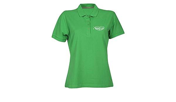 T-Shirtshock Polo para Mujer Verde FUN0834 Bona Fide Fist Knuckles ...
