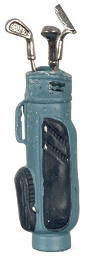Dollhouse Miniature 1:12 Scale Blue Golf BAG with 3 Clubs #G8032b