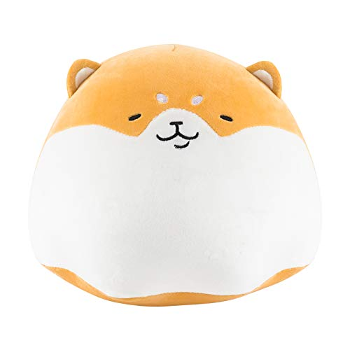 Redbey L/X 15.7-inch Stuffed Animal Shiba Inu Plush Toy Pillow. Anime Corgi Puppy Akitas Cute Plush Soft Pillow Hugging Pudding Doll Dog. Best Toy Gift for Girl Boy. (Brown-15.7inch)