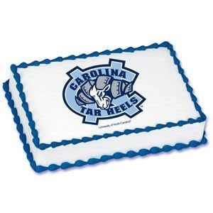 1 4 Sheet North Carolina Tar Heels Logo Edible Image