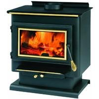 Summers Heat 50-SNC13 Wood Burning Stove 1,200 - 1,800 Square Foot - Pedestal Wood Stove