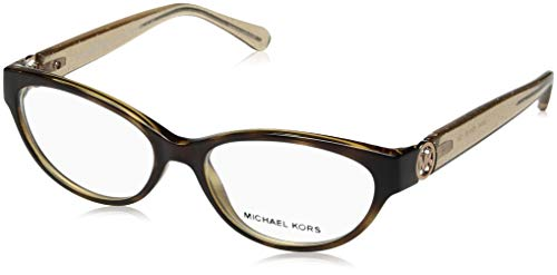 Michael Kors Tabitha VII 8017 Womens/Ladies Cat Eye Full-rim Eyeglasses/Eyeglass Frame (52-15-135, Tortoise / Glitter Nude) -