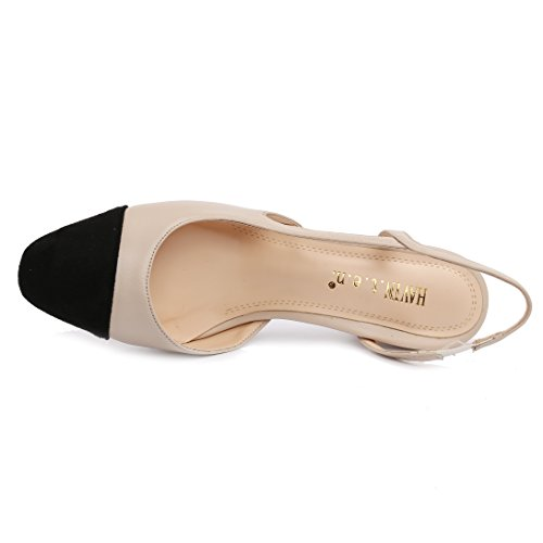 Dongya Khaki Womens 65mm Heel Office Lady Pumps tOaby