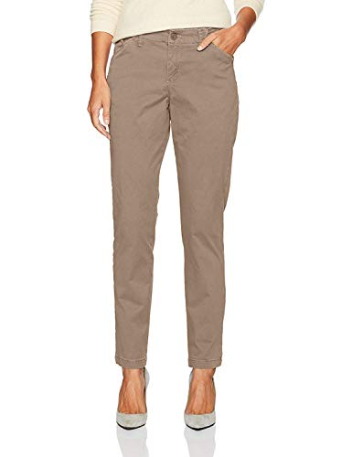 (LEE Misses Platinum Label Tailored Chino Pant, Light Fawn, Size)
