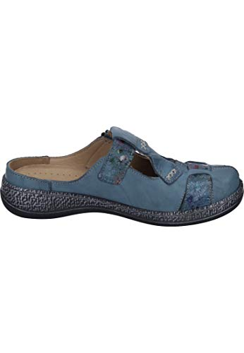 Zuecos Para Comfortabel Cuero De Mujer Azul UzwTdqx4a