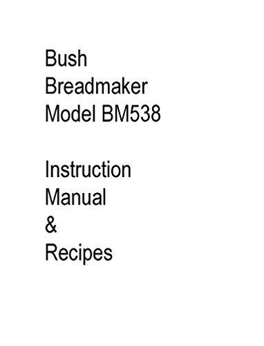 Bush Pan máquina eléctrica manual de instrucciones y recetas ...