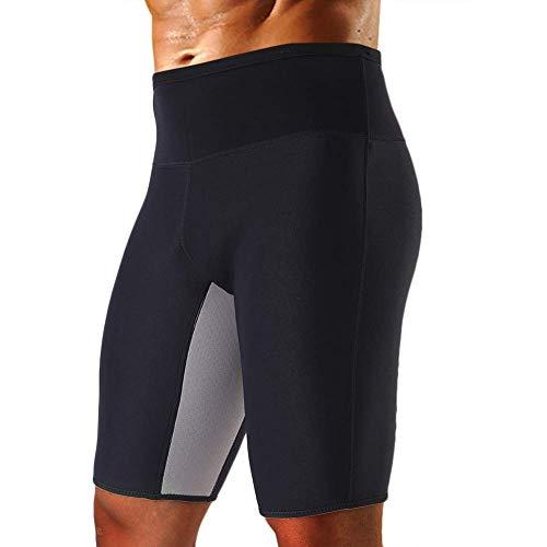 a845797b4c1 Cimkiz Men s Sauna Sweat Slimming Shorts Neoprene Exercise Pants for Workout  Sweat Body Shaper Size S