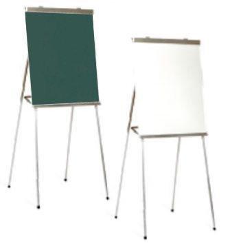 Portable 4-Leg Whiteboard Presentation Easel in Aluminum by Marsh