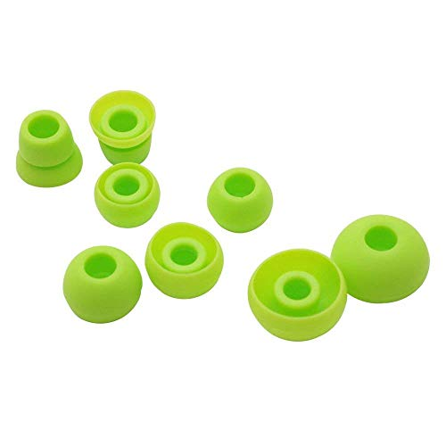 8pcs Alitutumao Replacement Earbuds Silicone Eartips Ear Buds Compatible with Powerbeats 2 Powerbeats2 Powerbeats 3 Wireless Beats by dr dre Headphones (Green)