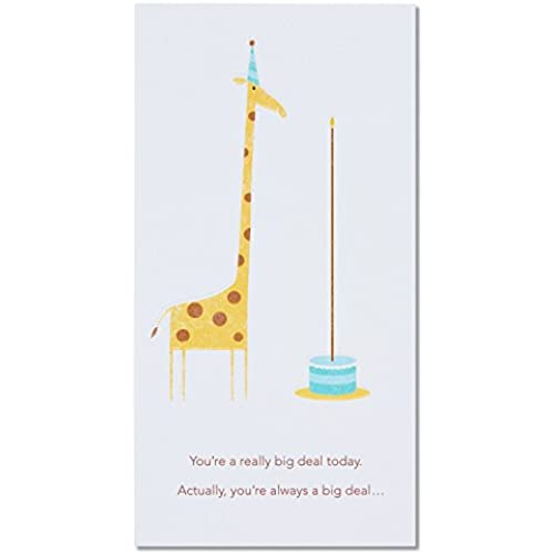 American Greetings Giraffe Birthday Card with Embossing Sales