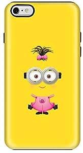 Stylizedd Apple iPhone 6Plus Premium Dual Layer Tough Case Cover Gloss Finish - Girly Minion 2