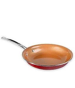 Amazon Com Red Copper Ceramic Non Stick 10in Cookware Pan