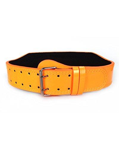 Unbroken Designs Neon Orange 4'' Weightlifting Belt - Size Large by Unbroken Designs