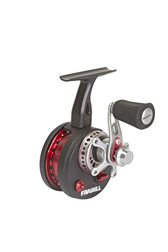 Frabill Straight Line 371 Ice Fishing Reel in Clamshell Pack, Black