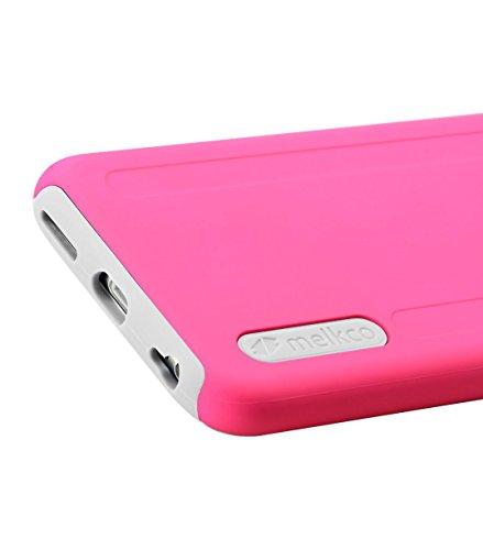 Melkco Kubalt–Carcasa de doble capa Pro silicona/Carcasa de plástico para iPhone 6, plástico, Pink/Black 1, Apple iPhone 6S/6 rosa/blanco