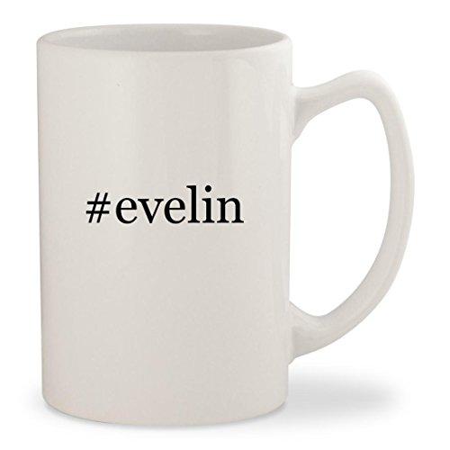 #evelin - White Hashtag 14oz Ceramic Statesman Coffee Mug Cup