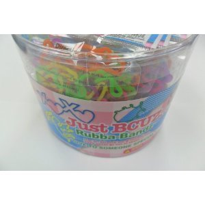 [288 Bands Pii Just Bcuz Rubba Bandz Shaped Rubber Bands Bracelets 24 Packs Per Tub with Free Necklace] (24 Ct Tub)