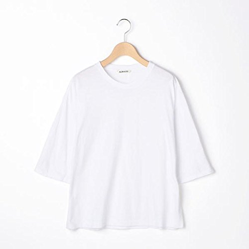 ビショップ(レディース)(Bshop) 【AURALEE】ハーフスリーブTシャツ WOMEN B07BRB3WCZ 1(ONE SIZE) WHITE WHITE 1(ONE SIZE)