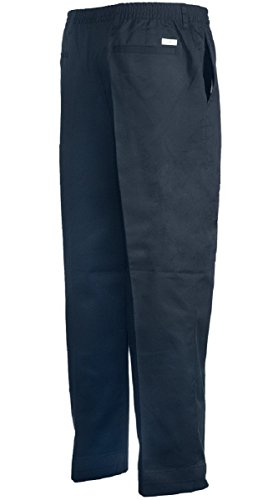 Buy elastic waist twill pants