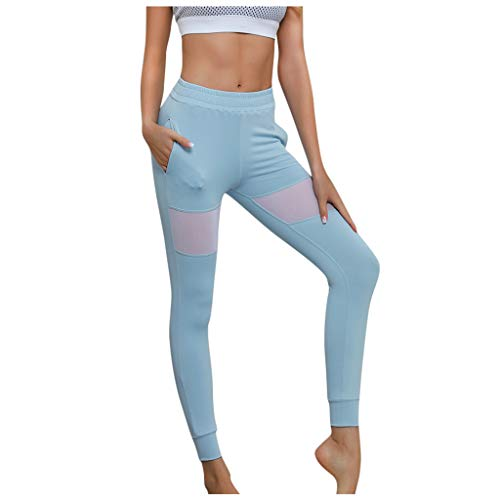 Printed Extra Long Women Yoga Leggings High Waist Over The Heel Yoga Pants Light Blue ()