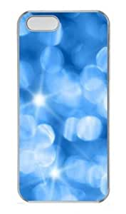 Bright Blue Light Polycarbonate Plastic Hard Case for iPhone 5S and iPhone 5 Transparent