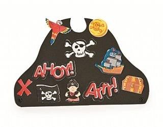 12 Economy Black Foam Pirate Hats Kids Group Party Craft Kit