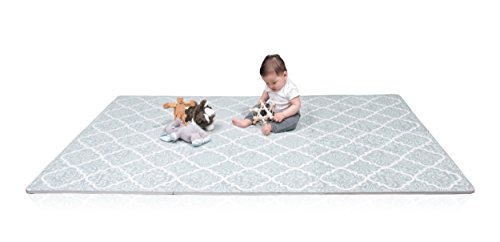 Stylish Baby Play Mat | Soft, Thick Interlocking Foam Tiles w/ Edges | Durable & Easy Clean | Children Toddler & Baby Safe | Portable Activity Tummy Time Playmat | Girls & Boys | 4ft x 6ft - Kid Baby Playmat